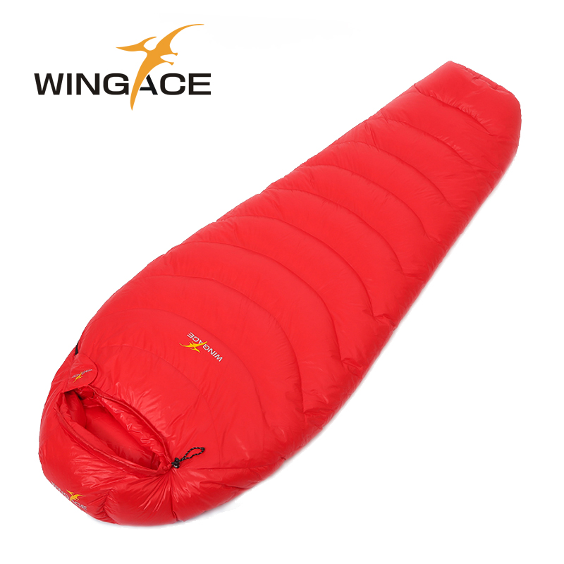 Winter sleeping bag duck down WINGACE Fill 2000G 3000G 4000G camping Adult mummy travel Waterproof uyku tulumu sac de couchage