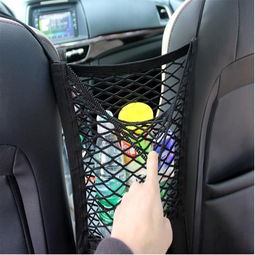 Car Styling Car Organizer Seat Back Storage Elastic Car Mesh Net For Ford Focus MK2 MK3 MK4 kuga Escape Fiesta Ecosport Mondeo