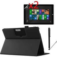 4in1 Luxury Keyboard Station Folio Stand Leather Case Cover 2x Films 1x Stylus For Microsoft Surface3