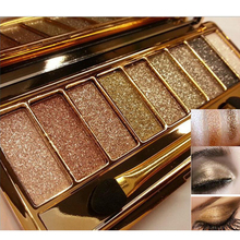 Hot Women 9 colors Diamond Bright Colorful Makeup Eyeshadow super Make up set flash Glitter Nk eye shadow Palette with Brushes