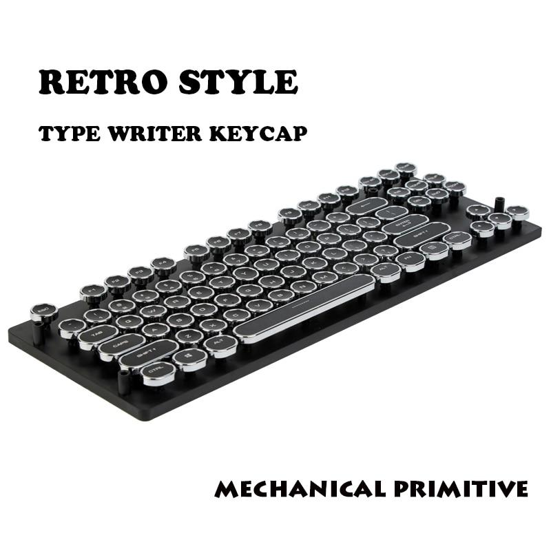 MP 87/108 ABS Keys Round Keycap Retro Typewriter Keycap Steampunk Dreamer Personality Keycap For Wired USB Mechanical Keyboard