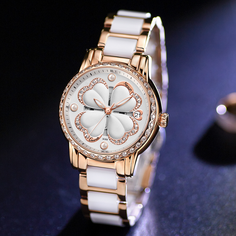 2018 Switzerland NEW Nesun Women's Watches Luxury Brand Quartz Watch Women Pearl Relogio Feminino Diamond watch женский жилет new brand 2015 colete feminino er0070