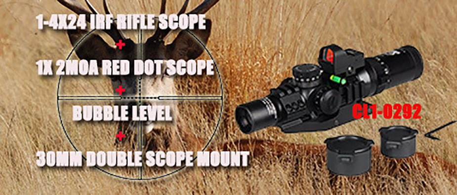 Canis Latrans 1 4x24 Irf Rifle Scope 2moa 1x Mini Red Dot Sight Riflescope Bubble Level 30mm Double Scope Mount Os1 0292 Red Dot Sight Dot Sightscope Mount Aliexpress