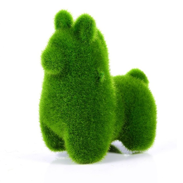 Christmas Handmade Artificial Turf Grass Animal Easter Rabbit Home Office Ornament Room Office Wedding Decor Easter Bunny Party 3