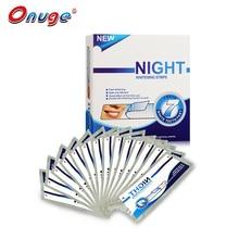 1 Caja Avanzó 40 Seco Para Blanquear Los Dientes Onuge Noche Uso Teeth Whitening Strips Tiras Tiras de Blanqueamiento Para Dormir Seco 20 Bolsas