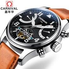 Швейцария Карнавальные бренды Роскошные мужские часы Многофункциональные часы Мужчины Сапфир reloj hombre Светящиеся релоджи Часы C8783-14