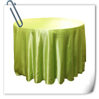 Hot Sale Apple Green 90inch 10pcs Satin Table Cloth For Weddings Parties Hotels Restaurant Free