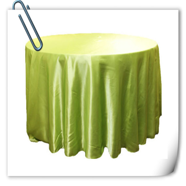 Hot Sale !!! Apple Green 90inch 10pcs Satin table cloth for weddings parties hotels restaurant Free Shipping Marious