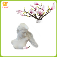 Lxyy mould new beauty head silicone mold sculpture character candle tool
