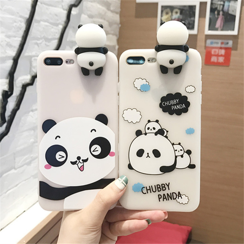 XINGYUANKE Cute Panda Phone Cases For OPPO A59 A59S Case Lovely Cartoon Cover Soft Silicone Transparent For OPPO F1S Case