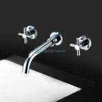 Contemporary Widespread Wall Mount Bathroom Sink Faucet MPAZ002B