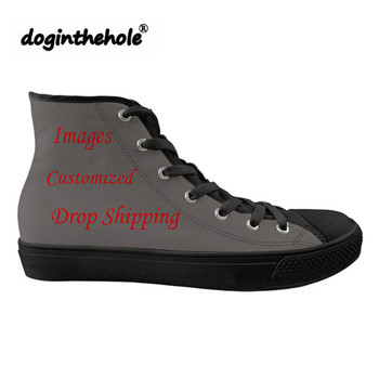 doginthehole Running Shoes for Man Women Customized Drop Shipping High Top Canvas Flats Shoes Sport Sneakers Mesh Gym Shoes 2019