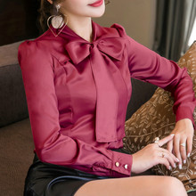 LOSSKY Long Sleeve Skew Collar Button Womens Tops And Blouses 2018 Spring Autumn