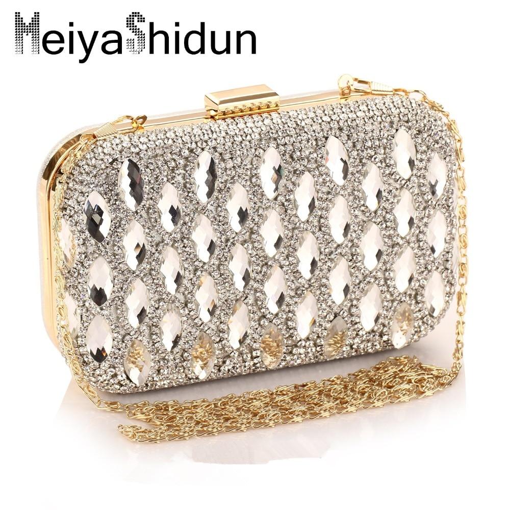 ФОТО MeiyaShidun Luxury handbags women evening bags Brand high-end diamond chain Clutches party wedding package mini bag Purses bolsa