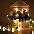 Novedad 20 LED G45 Globo Conectable Partido Bola led cadena de Navidad Luces de hadas de la boda Del Adorno de jardín colgante garland LS02