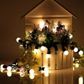 Novelty 20 LED G45 Globe Connectable Festoon Party Ball led string Christmas Lights fairy wedding garden pendant garland LS02