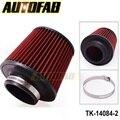 """Autofab - 3 """" 76 mm de aire filtro Pod fría cono ingesta de flujo de potencia Turbo Inlet directa AF-14084-2"""