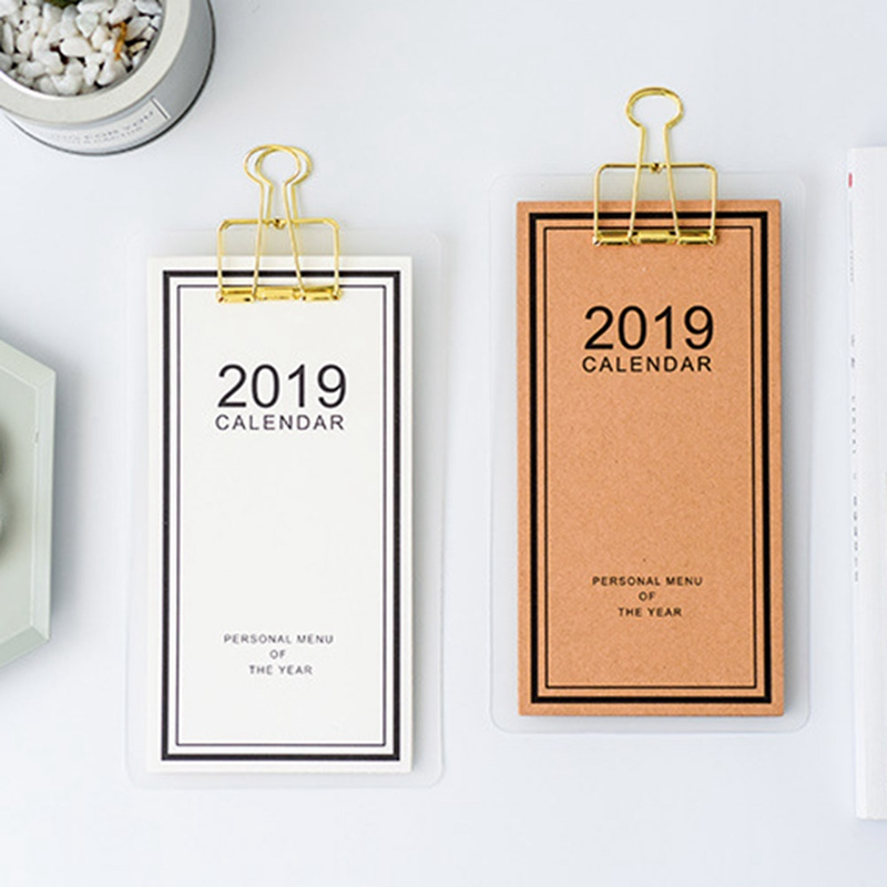 Office & School Supplies 2019 New Year Calendar 2019 Fashion Simple Lovely Mini Table Calendars Vintage Kraft Paper Desk Calendar Office School Supply Calendar