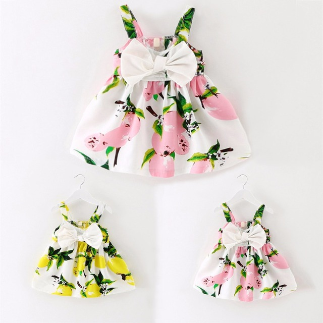 0afe6004595f Summer Newborn Infant Girls Floral Dress Princess Tutu Dresses Baby ...