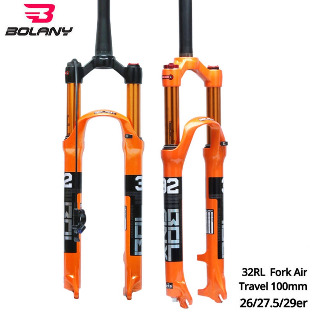 BOLANY bicycle air resilience fork 26 27.5 29 ER mountain bike suspension fork