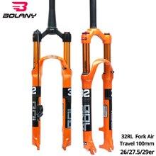 Bolany Bike Front Fork 26er/27.5er/29er Inch 32 RL HL Magnesium Alloy Air Resilience Oil Damping MTB Parts