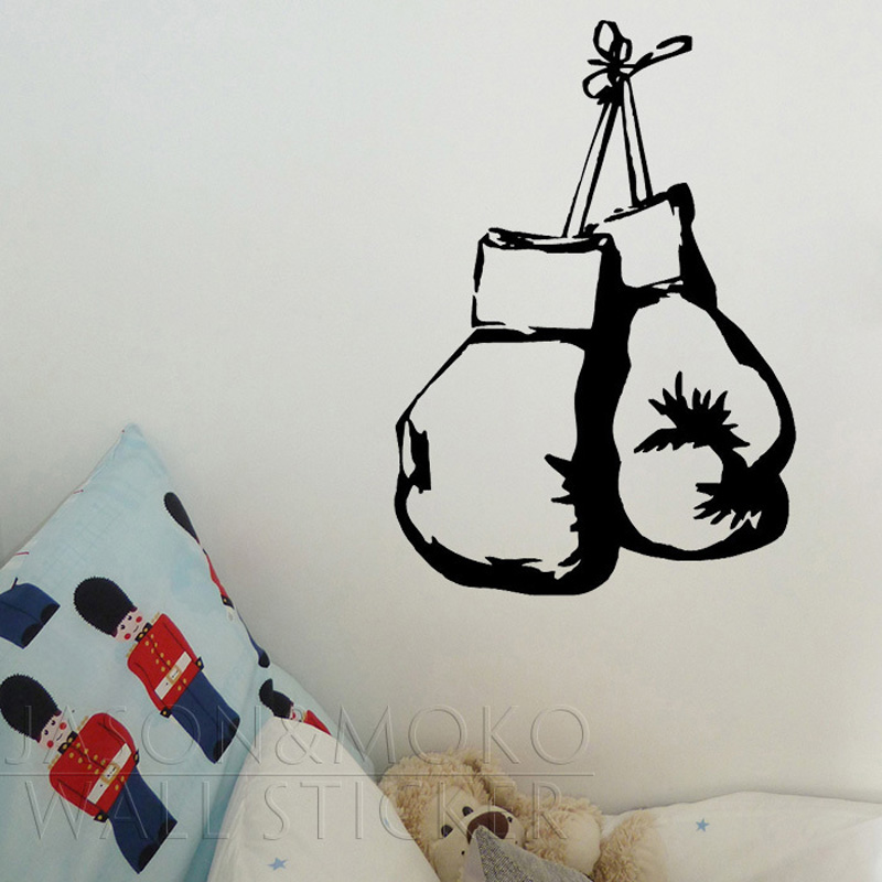 Cool Boxing Gloves Fighting Battle Stripe Wall Mural