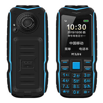 KUH Robuste Outdoor-Handy Lange Standby Power Bank Vibration Bluetooth Dual Taschenlampe Stoßfest 15800mAh Lautsprecher