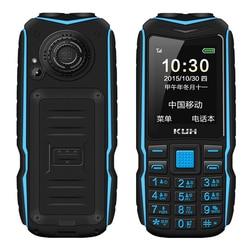 Kuh robusto telefone móvel ao ar livre longa espera power bank vibração bluetooth lanterna dupla à prova de choque 15800 mah alto falante