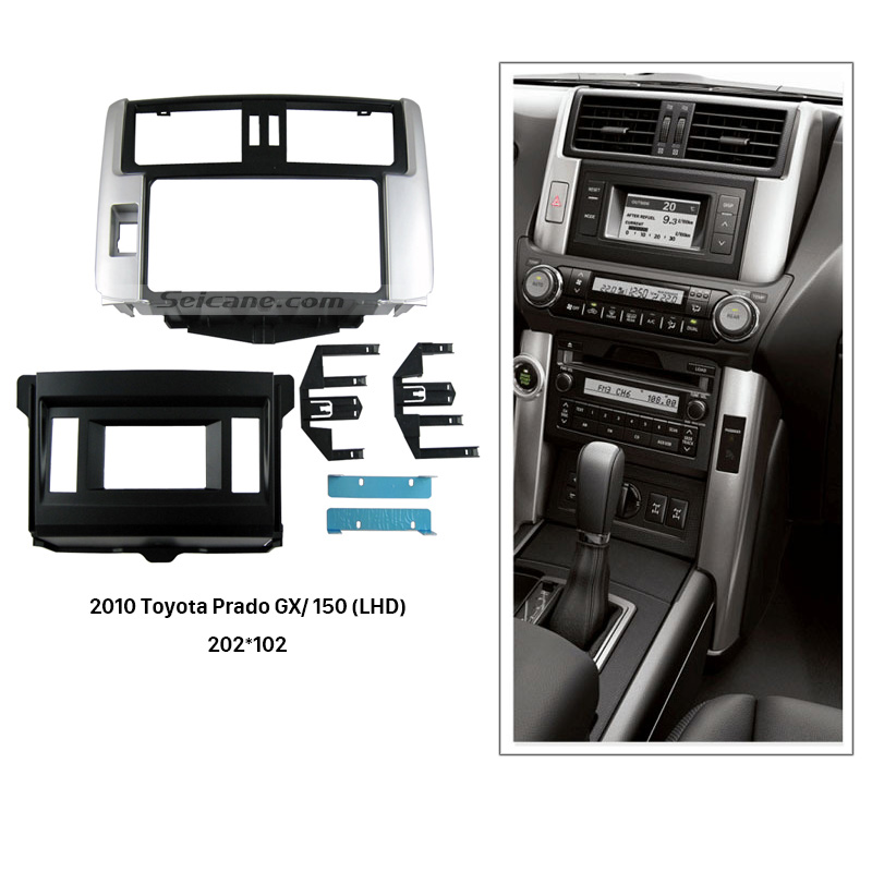 Seicane Best 2 Din Car Radio Fascia for 2010 Toyota Prado GX 150 LHD Stereo Install Dash Mount Kit Frame Panel