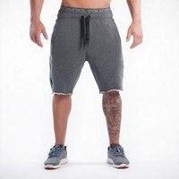 2016 New Gym Clothing Man Shorts Casual Skinny Bodybuilding Gym Shark Shorts Men Sports Joggers Cotton