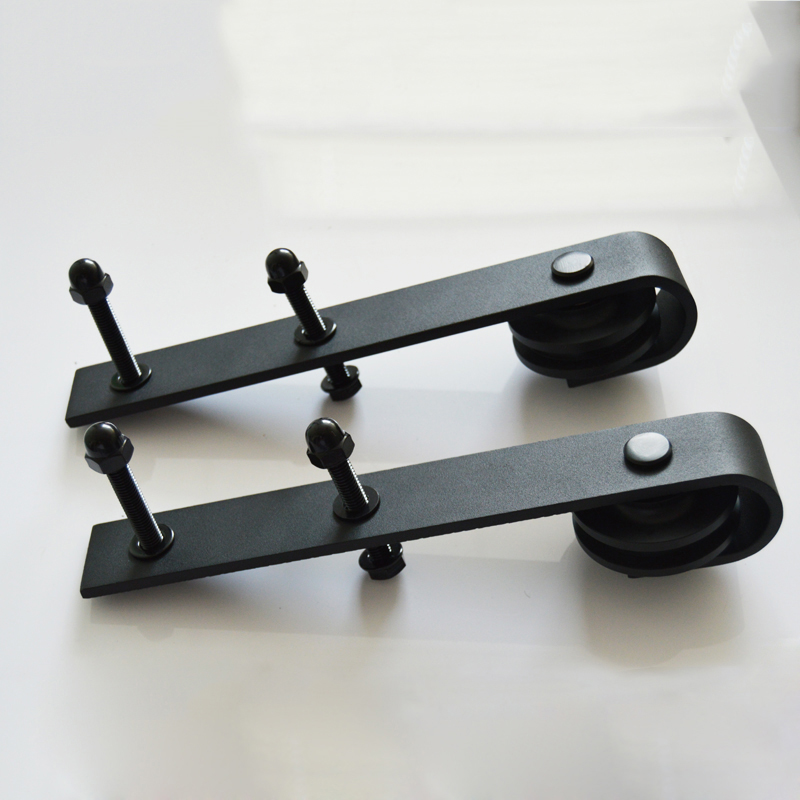 2pcs Black Country Barn Sliding Door Roller Rollers Assemblies Hardware Antique Style-Only Roller HM116 5 8ft new listing domestic sliding barn wood door hardware top quality steel country style black barn door hardware track set