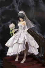 New DATE A LIVE Tokisaki Kurumi Wedding Dress Version Dolls PVC Japanese Action Figure Collectible Model Toy for Children цена