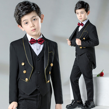 Children's suit baby boys suits formal dress tailor-made suit kids boys wedding suits blazer baby tuxedo black swallowtail boys 3pcs suits flower boys wedding tuxedo 3 piece suits page boy party formal custom