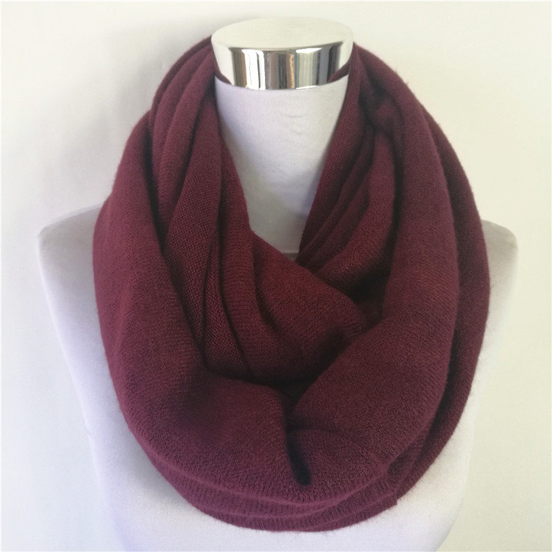 New Fashion Unisex Womens Winter Knitted Circle Loop Scavres Cashmere Ladies Infinity Scarf Snood Scarves Wraps Free Shipping