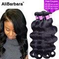 Alibarbara Hair Peruvian Virgin Hair Body Wave 4pcs lots Peruvian body wave Virgin Hair Unprocessed Human Hair Weave on sale