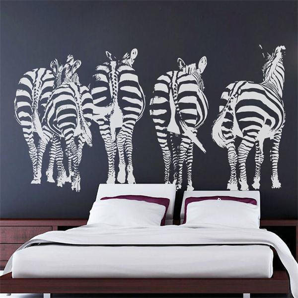 Exceptionnel Leisurely Walking Zebra Home Decoration Vinyl Wallpaper Adesivo De Parede  Wall Sticker Large Size Wall Stickers Home Decor In Wall Stickers From Home  ...
