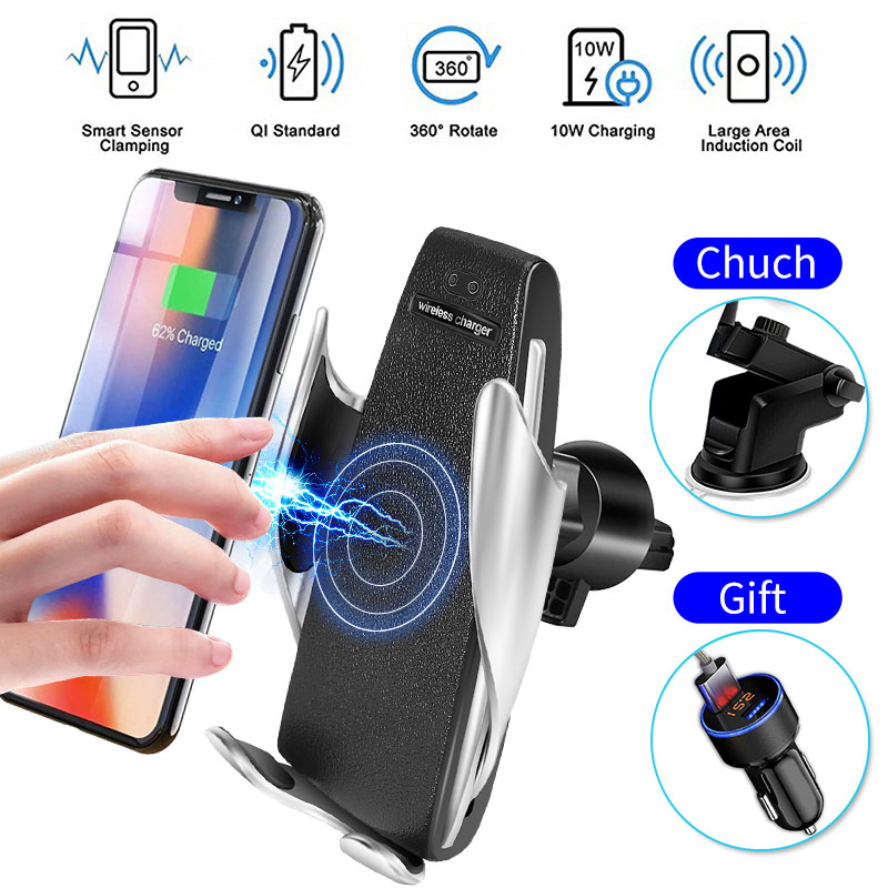 $27.68 360 Rotation Fast Wirless Charging Car Phone Holder Qi Car Wireless Charger For iPhone Xs Max XR X Samsung Xiaomi For Universal