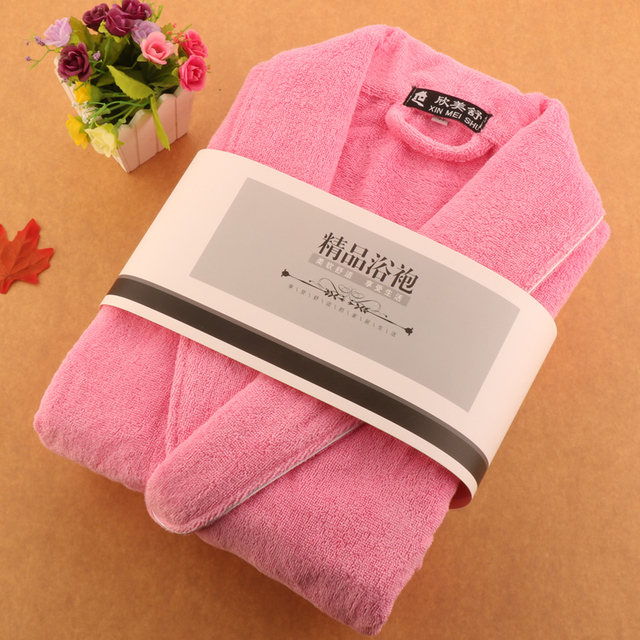 62b397854a cotton thickening towel material women bathrobes top cotton robe women soft  suction bathrobe couple night gowns
