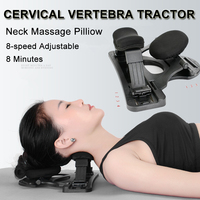 Cervical Vertebra Tractor Neck Back Therapy Heat Infrared Massage Pilliow Adjustable Stretch Household Health Care Device