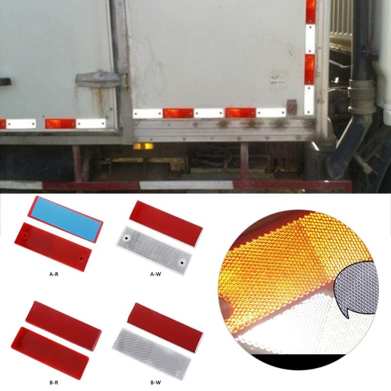 2 un forma de flecha de Plástico Rojo universal Reflector Reflectante Placa para Coche