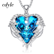 Buy swarovski blue crystal heart and get free shipping on AliExpress.com 2d116922c6ed