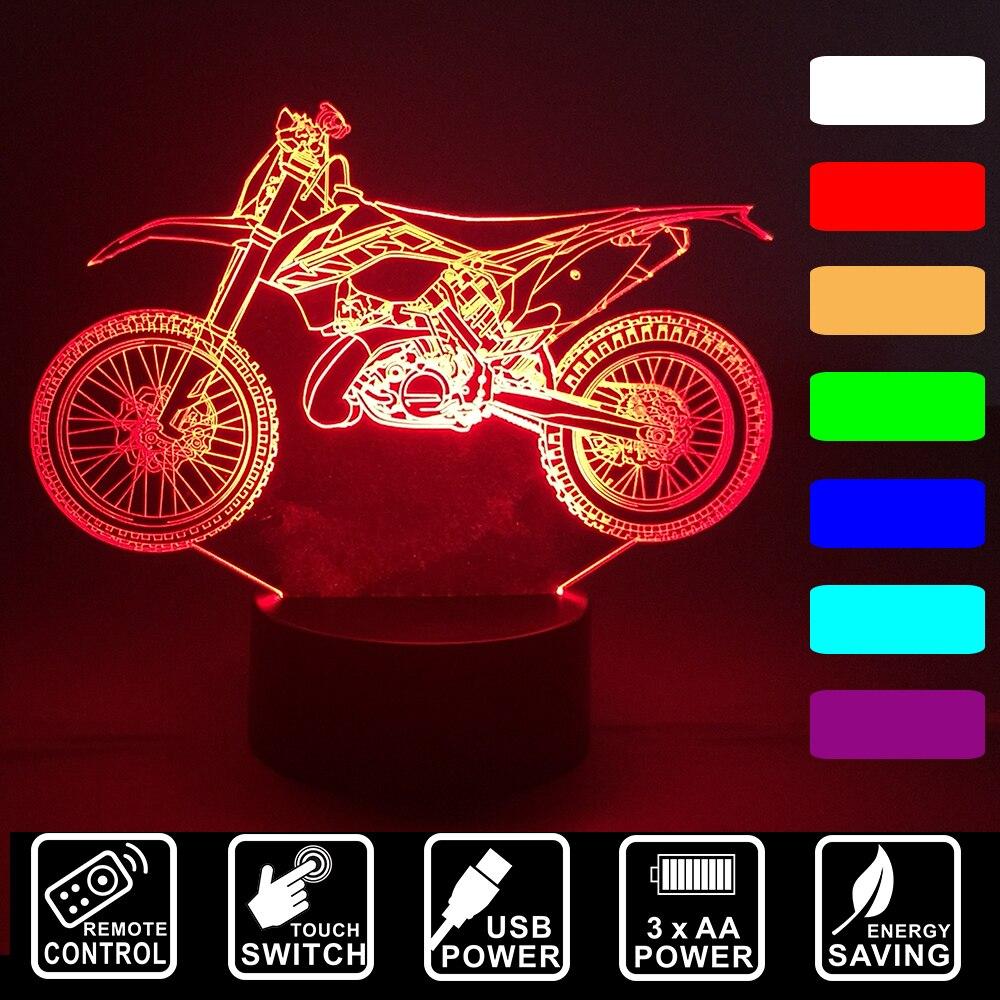 Luzes da Noite personalizar motocross moto controle remoto Tipo de Item : Luzes Nocturnas