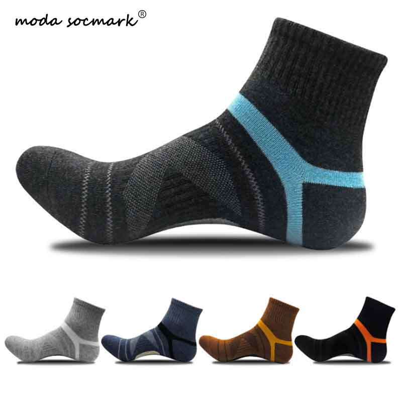 Moda Socmark Hot Sale Men Outdoor Sports Elite Basketball   Socks   Men Cycling   Socks   Compression   Socks   Cotton Bottom Men's   socks