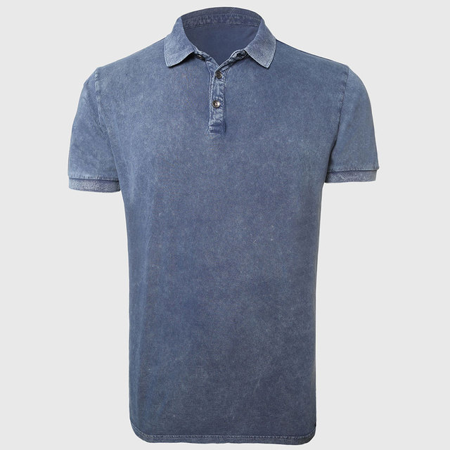 Polo Мужчины Мужской Polo Shirts Solid Polo Shirt Plain Классический Vintage Кнопки Разрез Ребристый Воротник И Манжеты Одежды