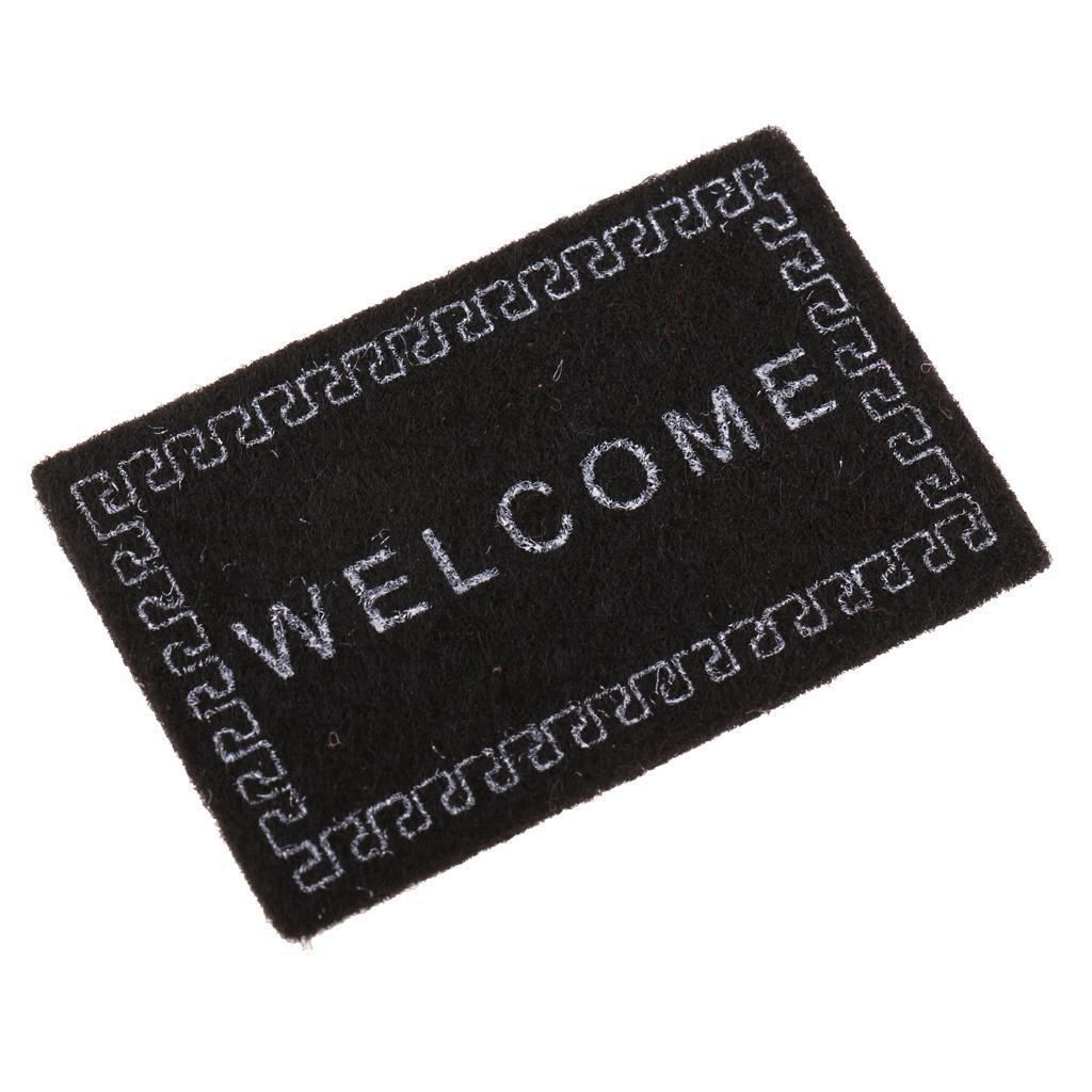 ABWE Best Sale Doll House Miniature carpet WELCOME Mat Dollhouse Accessories Home & Living 1/12 Scale doormats image