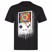 DRIPPING COLORS GAMEBOY RETO VINTAGE UNISEX BLACK CLASSIC GAMERS PH5 T-SHIRT New T Shirts Funny Tops Tee Unisex