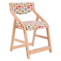 Высота Adjsutable ребенок учится стул с тканевой обивкой седло детская мебель стол и стул для письма, обеденный