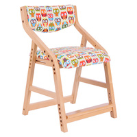 Height Adjsutable Child Learning Chair Stool With Fabric Upholstery Saddle Seat Kids Furniture Desk Chair For Writing, Dining