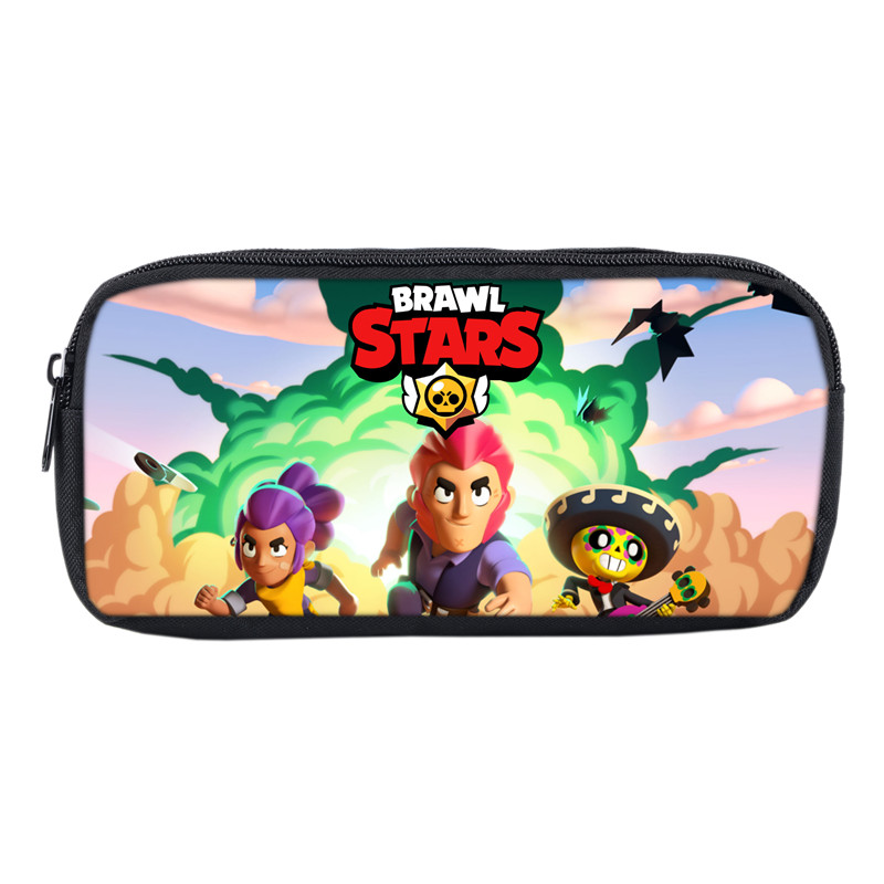New Games Brawl Stars Bags For Students Pen Bag Casual Pencil Pouch For Boys Girls School Gifts Anime Cosmetic Cases