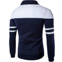 Men's Sports Golf Striped Patchwork Slim Fit Jackets